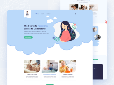 Website for Baby Care and Parenting Hacks