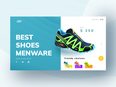 Conceptual header design for an e-commerce website