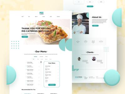 Website Design for Catering Service Provider.