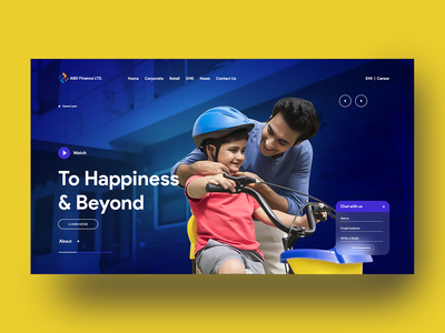 Header Concept for an Financial Institution