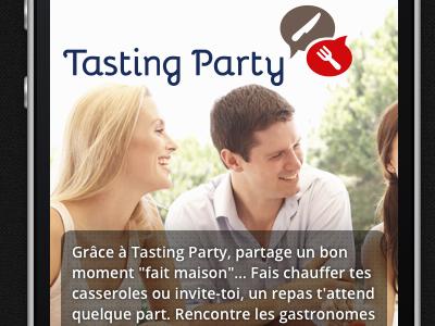 Tasting Party mobile splash page splash bigphoto css mobile responsive