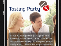 Tasting Party mobile splash page
