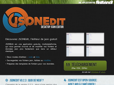 JSONEdit website design preview website app design preview
