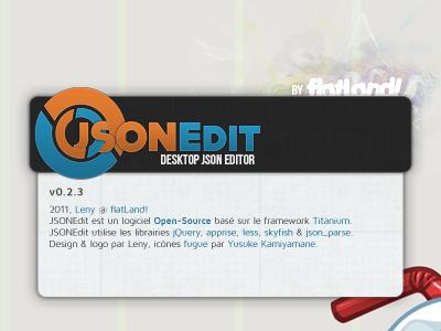 JSONEdit About Window ui app about design