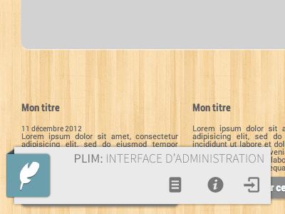 PLIM : In-place edition CMS - Toolbar cms toolbar