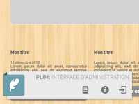 PLIM : In-place edition CMS - Toolbar