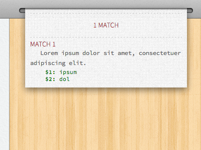 Match(es) tools regex