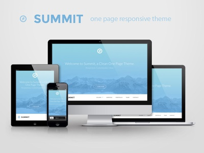 Summit - responsive one page clean website team ui flat responsive landing page frontend theme bootstrap