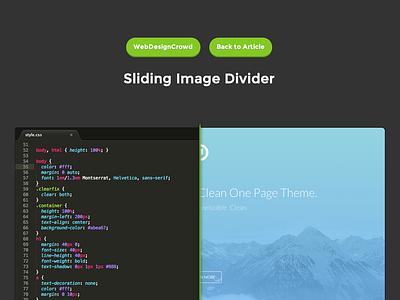 Sliding Image Divider ui animation freebie jquery css3 css javascript image slider image divider