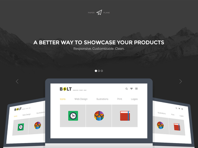 Paper Plane - Creative Multi-Purpose Theme theme bootstrap flat frontend landing page responsive template website clean modern