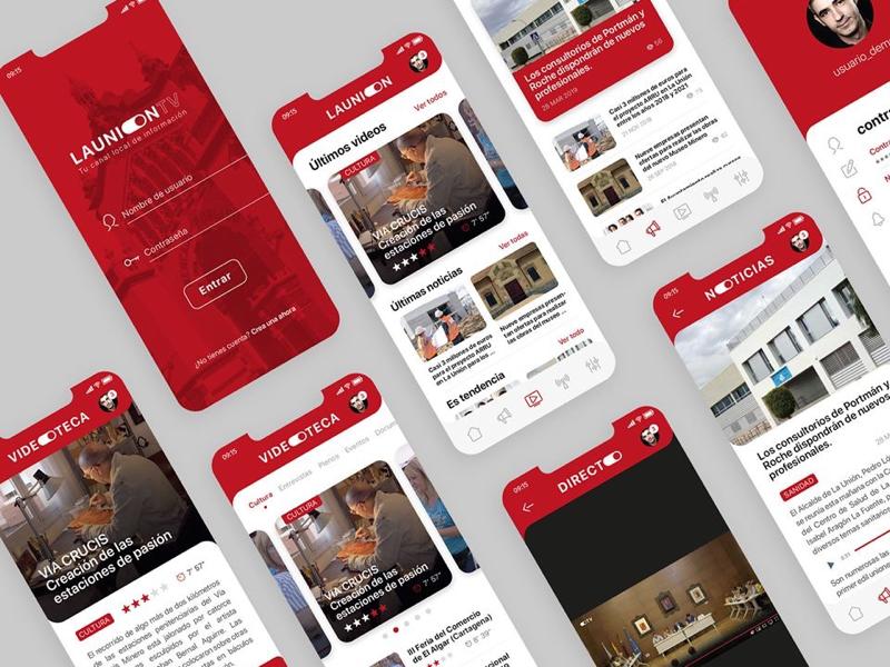 UI Design LAUNION.TV logodesign appdesign webdesign abduzedoo webapp uidesign