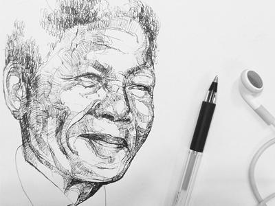 Nelson Mandela pen portrait