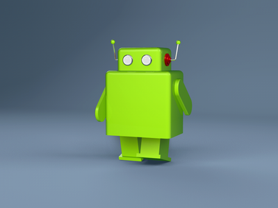 Android Robot  android robot icon animation wip c4d