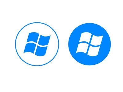 Windows 8  windows 8 logo redesign blue