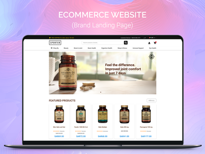 Brand Landing Page at ecommerce website