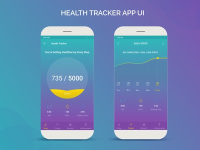 health tracker app ui