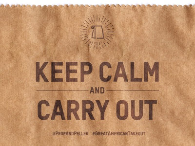 Keep Calm & Carry Out logotype typography vector apparel creative direction art direction branding