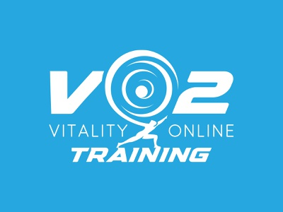 VO2 - Vitality Online Training workout illustration typography vector atlas athletic fitness logo logotype design logo branding identity