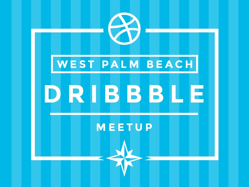 Dribbble Meetup for West Palm Beach, Florida meetup meet up invite 561 web west palm beach