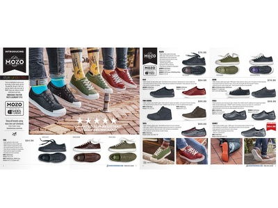 Mozo Shoes print branding creative direction art direction layout catalog print irl design logotype work branding identity logo