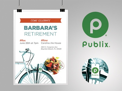 Publix employee flyer small branding grocery typography poster flyer