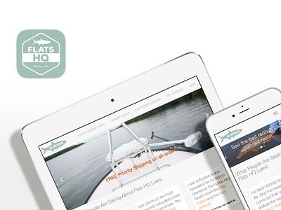 Flats HQ logos, web app icon/badge app web mobile art direction branding logo identity