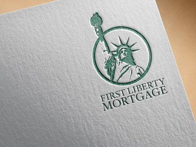 First Liberty Mortgage Identity letterpress emboss creative direction art direction logo letterhead identity