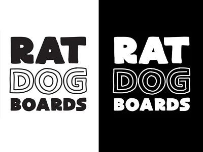 Ratdog logo design creative direction art direction layout catalog print irl design logotype work branding identity logo