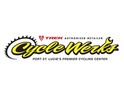 CycleWerks identity  bikes black yellow bicycle cycling bike shop branding trek logo identity
