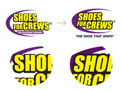 Shoes For Crews logo redesign catalog creative direction art direction package branding footwear shoes apparel identity