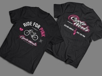 Ride For Pink T-Shirt.  Front and Back