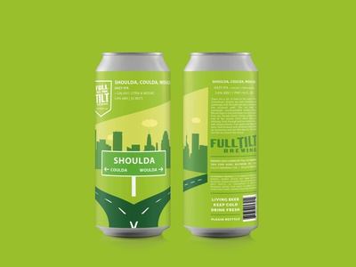 Label Design for Full Tilt Brewing