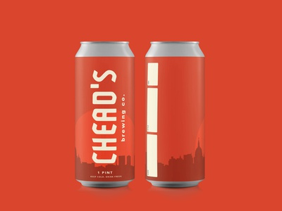 Crowler Beer Label Design for Chead's Brewing Co.