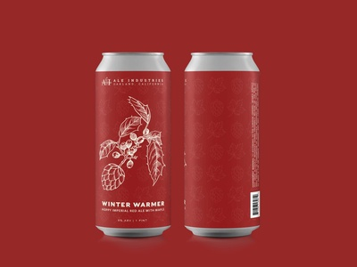 """Winter Warmer"" Beer Label Design for Ale Industries"
