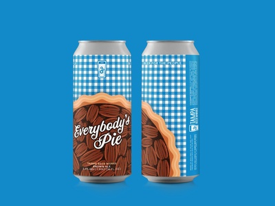 """Everybody's Pie"" Label Design for Tampa Beer Works"