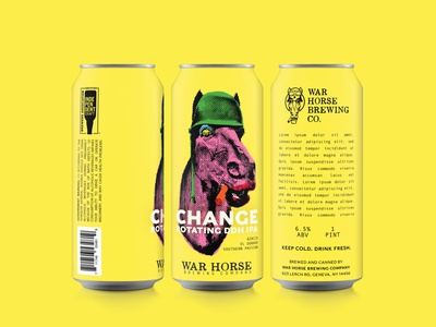 "Change ""Warhol"" Label Design for War Horse Brewing Company"