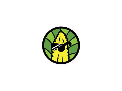 Swag Farm flat illustration art design logo fresh food farm swag corn icon