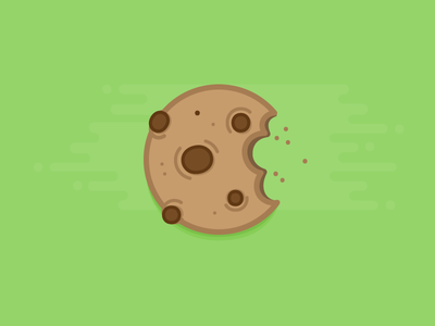 Cookie flat illustration design bite sweet food chocolate chip chocolate cookie icon