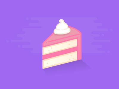 Cake flat illustration design sweet food dessert frosting cake icon