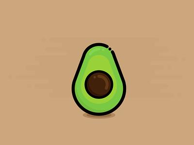 Avocado fruit avocado flat illustration design food vegetable healthy icon