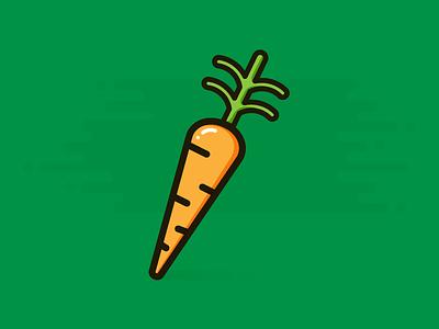 Carrot flat illustration design vegetable food veggies healthy carrot icon