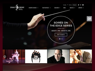 Spokane Symphony Website Redesign layout navigation clean ux responsive web design website