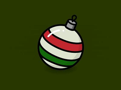 Christmas Ornament icon graphic holiday ornament christmas design illustration flat
