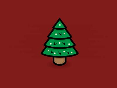 Christmas Tree icon graphic holiday tree christmas design illustration flat