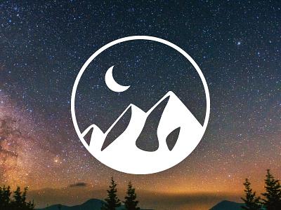 Pacific Northwest graphic design digital illustration vector washington northwest pnw moon mountain icon sticker