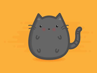 Chub Chub the Cat animal pet cute icon vector design illustration flat chub chubby kitty cat