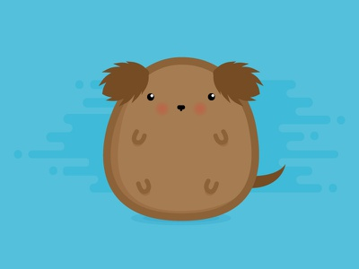 Poo Poo the Dog graphic animal pet cute icon vector design illustration flat puppy dog