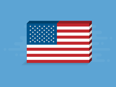 Flag Day 2017 illustration isometric graphic vector flat american america us usa flag