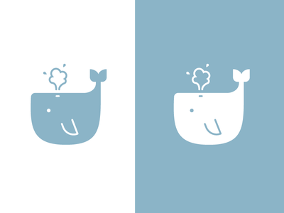 Baby Whale design blue cute flat illustration vector graphic icon baby whale ocean whale