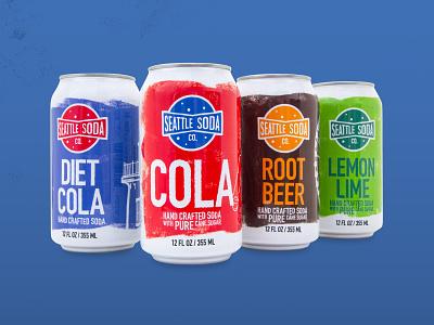 Seattle Soda Branding & Product Design branding design illustration